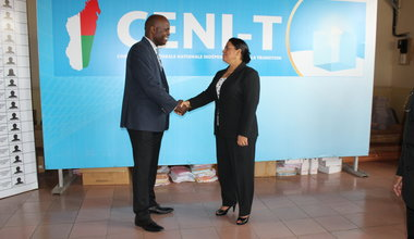 With Beatrice Atallah, President of the CENI-T of Madagascar, 5 January 2014