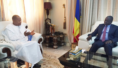 SRSG Ibn Chambas rencontre le Premier Ministre du Tchad, M. Albert Pahimi Padake, le 30 mai 2016 à N'Djamena