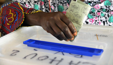 Partial legislative elections. Côte d'ivoire 2011. Ballot box. ©UN