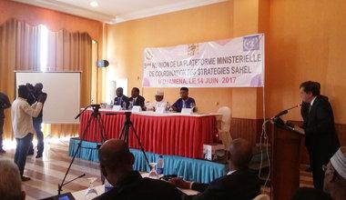 Cinquième Réunion de la Plateforme Ministérielle de Coordination (PMC) des Stratégies Sahel, le 14 juin 2017 à Ndjamena au Tchad
