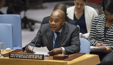 Mohammed Ibn Chambas, Special Representative of the Secretary-General and Head of the United Nations Office for West Africa and the Sahel (UNOWAS), briefs the Security Council.