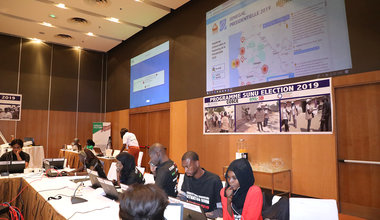 Situation room of the cicil society during the presidential election in Senegal, 24 February 2019. Photo: UNOWAS SCPIO