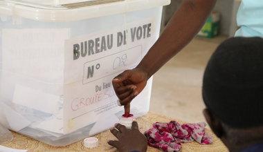 Election présidentielle au Sénégal, électeur au centre de vote des HLM 5 à Dakar. 24 février 2019. Photo: UNOWAS SCPIO