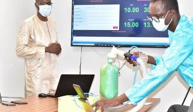 Des jeunes étudiants Sénégalais ont mis en place un respirateur artificiel destiné aux centre de prise en charge des malades du COVID-19. Photo: ESP