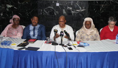 SRSG Mohammed Ibn Chambas addressing journalist at the press conference in Accra, 12 Aug 2016 - Photo: DR