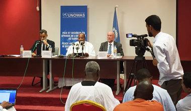 SRSG Mohamed Ibn Chambas effectue une conférence de presse, le 02 Juin 2016 à Nouackchott