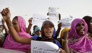 Manifestations de militants anti-esclavagistes à Nouakchott, en Mauritanie. Photo: REUTERS