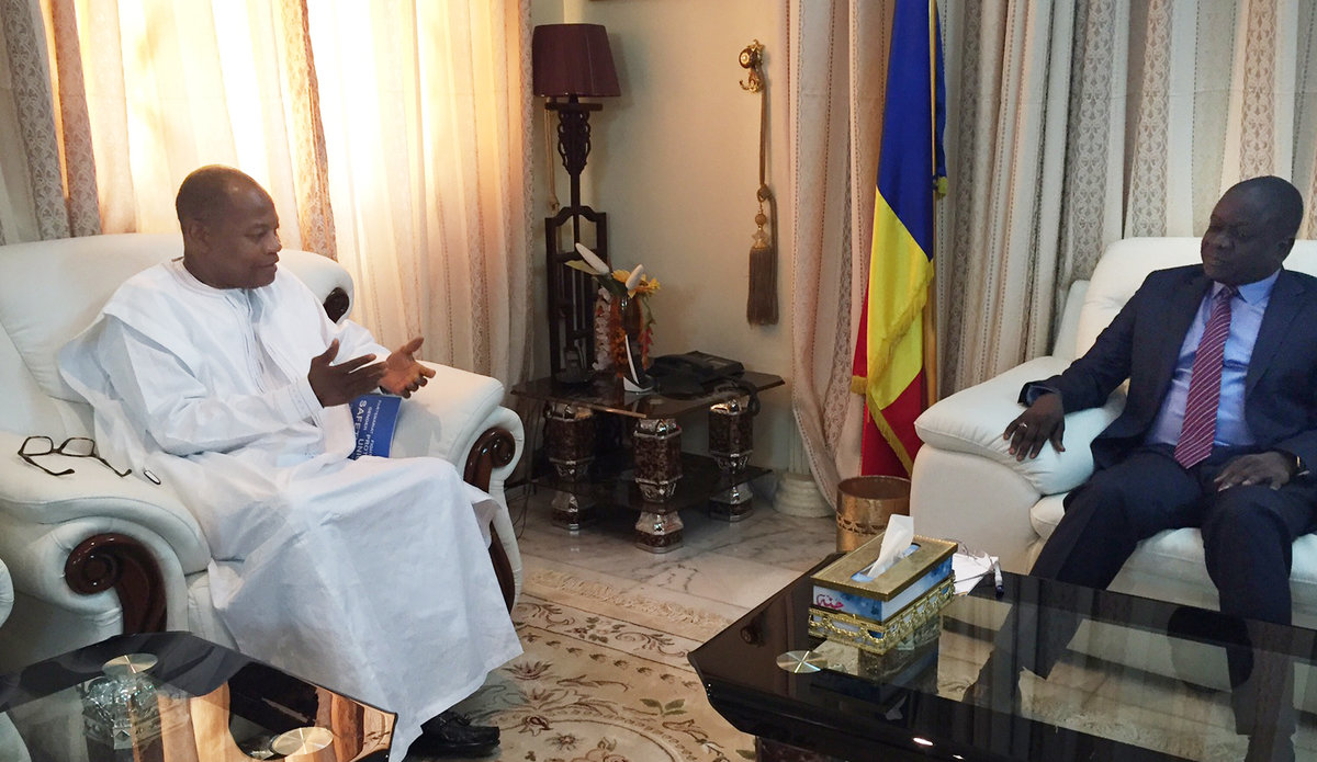 SRSG Ibn Chambas meet with the Prime Minister of Chad, Mr. Albert Pahami Padacke, N'Djamena, 30 May 2016