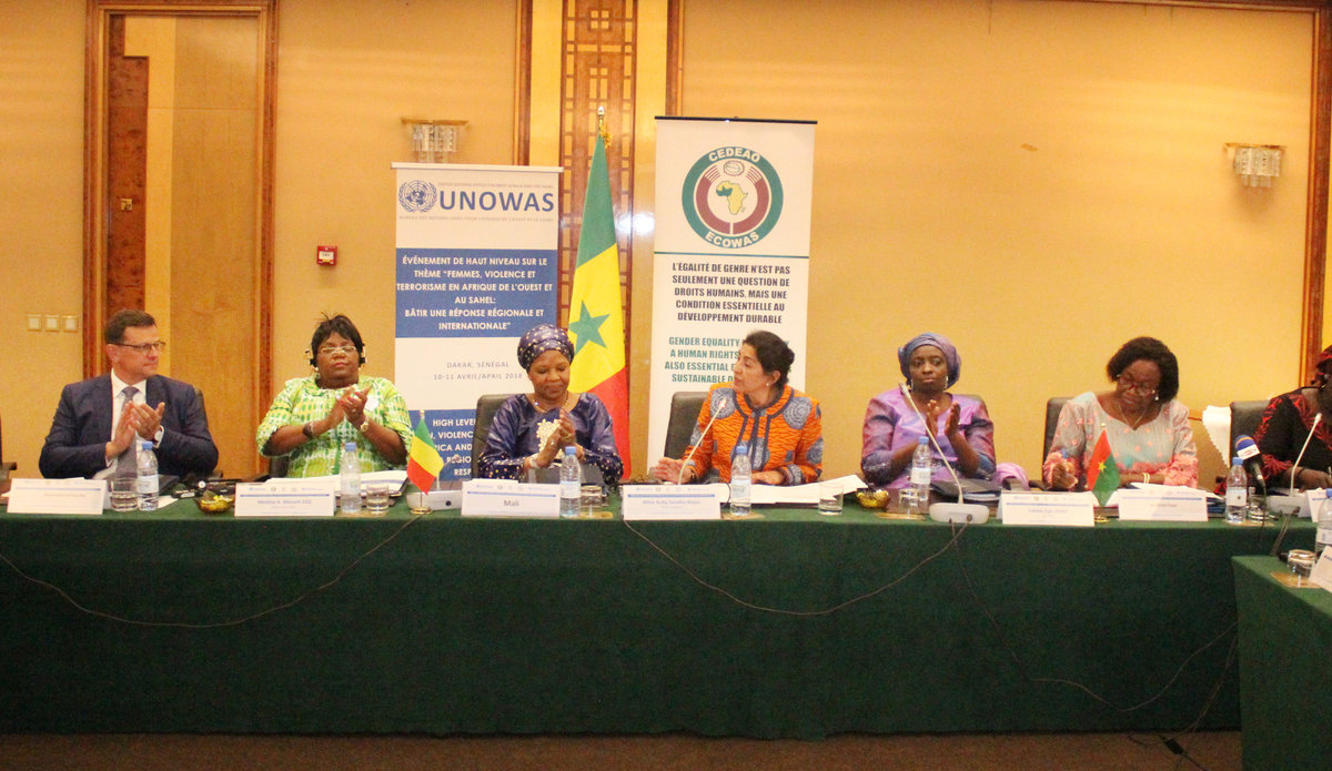 Conférence de haut-niveau sur le thème « Femmes, violence et terrorisme en Afrique de l'Ouest et au Sahel : bâtir une réponse régionale et internationale » - 10 - 11 Avril 2018 à Dakar.