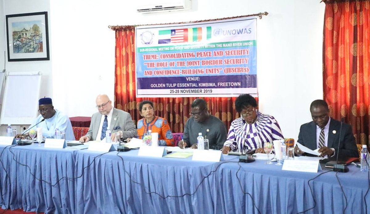Réunion sur la Paix et la Sécurité dans l'Union du Fleuve Mano, 25 Novembre à Freetown, Sierra Leone.