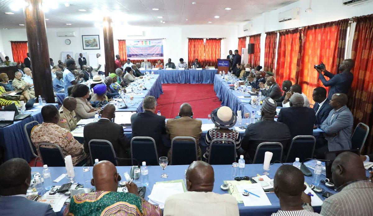 Réunion sur la Paix et la Sécurité dans l'Union du Fleuve Mano, 25 Novembre 2019 à Freetown, Sierra Leone.