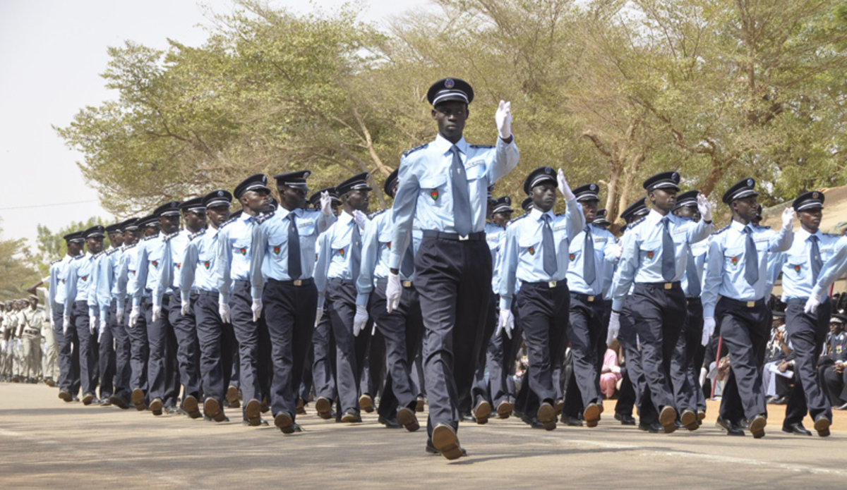 Police officers. Police college in Ouagadougou, Burkina 26 January 2012