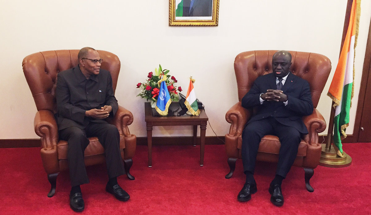 The SRSG Mohamed Ibn Chambas met with the Minister of Foreign Affairs of Côte d'Ivoire, 19 July 2017 in Abidjan.
