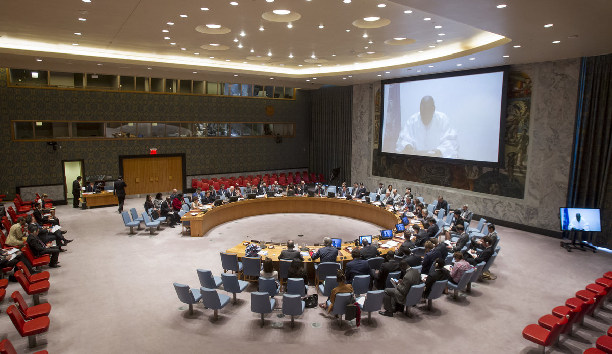 SRSG Ibn Chambas brief the Security Council of the impact of Climat Change in The Sahel Region, 27 May 2016