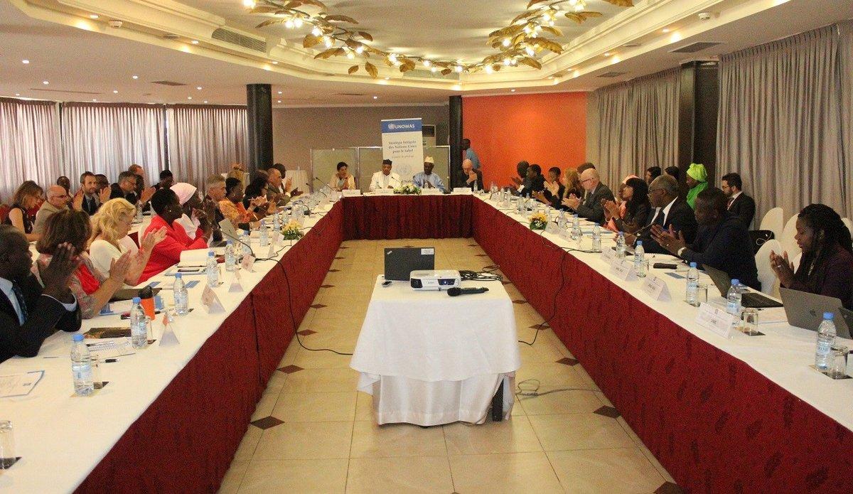 Réunion du Comité de Pilotage de la Stratégie Intégrée des Nations Unies Pour le Sahel (SINUS), le 4 mai 2018 à Dakar.