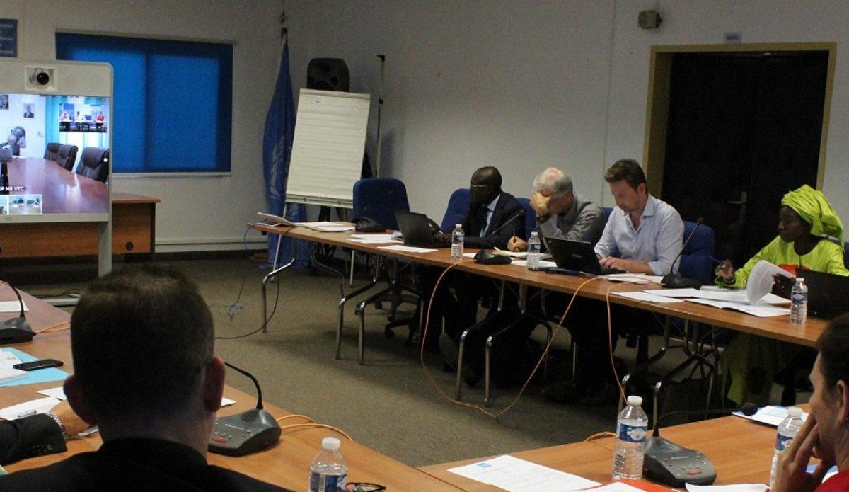 Les participants au Comité de Pilotage de la SINUS au siège d'UNOWAS, Le 23 Juin 2017