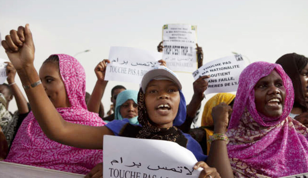 Demonstrations by anti-slavery activists in Nouakchott, Mauritania. Photo: Reuters