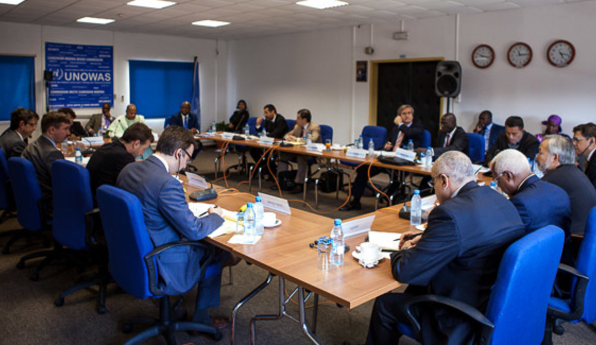 Meeting of the United Nations Security Council delegation with UNOWAS team, Dakar 7 March 2016