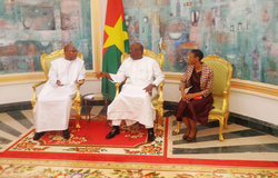 SRSG Ibn Chambas with President of Burkina Faso, Mr. Roch Marc Christian Kabore