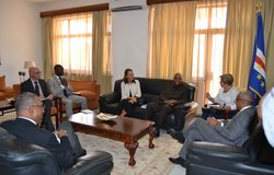 UNOWAS delegation meet with the President of Cabo Verde, Mr. Jorge Carlos Fonseca, 10 March 2016 in Praia