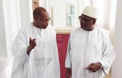 SRSG Ibn Chambas with Mr. Ibrahim Boubacar Keita, President of Mali, 31 May 2016 in Bamako