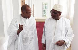 SRSG Ibn Chambas avec Le Président du Mali, M. Ibrahim Boubacar Keita, le 31 mai 2016 à Bamako