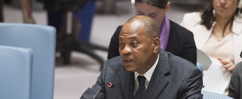 SRSG Mohammed Ibn Chambas briefs the Security Council on the situation of West Africa region and the Sahel. 13 July 2017 - United Nations, New York.