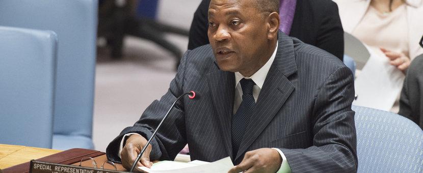 SRSG Mohammed Ibn Chambas fait son briefing au Conseil de Sécurité sur la situation de l'Afrique de l'Ouest et le Sahel. 13 Juillet 2017 - Nations Unies, New York.