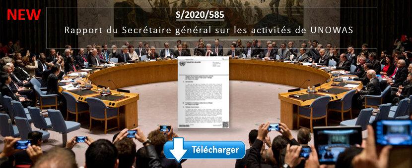 Rapport du Secrétaire général sur les activités de UNOWAS (S/2020/585) - Juin 2020